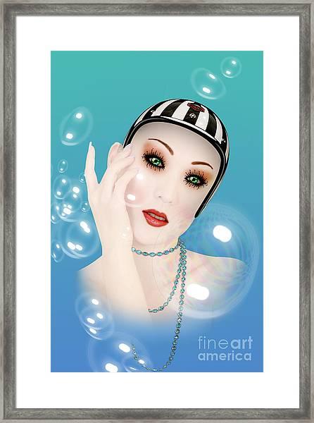 Soap Bubble Woman  Framed Print