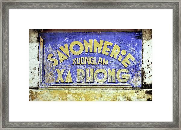 Soap Factory Sign Framed Print
