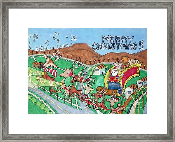 Socal Santa Framed Print