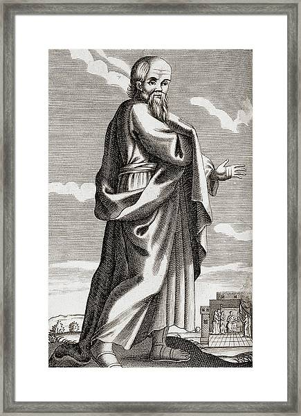 Socrates Framed Print by George Bernard/science Photo Library