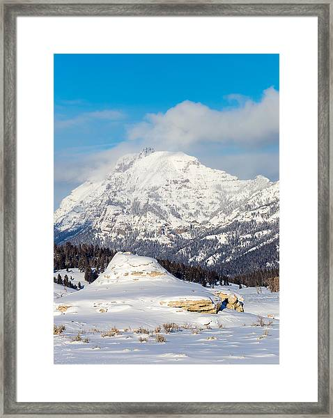 Soda Butte Framed Print