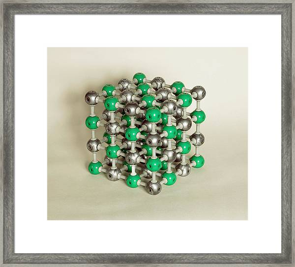 Sodium Chloride Lattice Framed Print