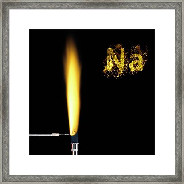 Sodium Flame Test Framed Print