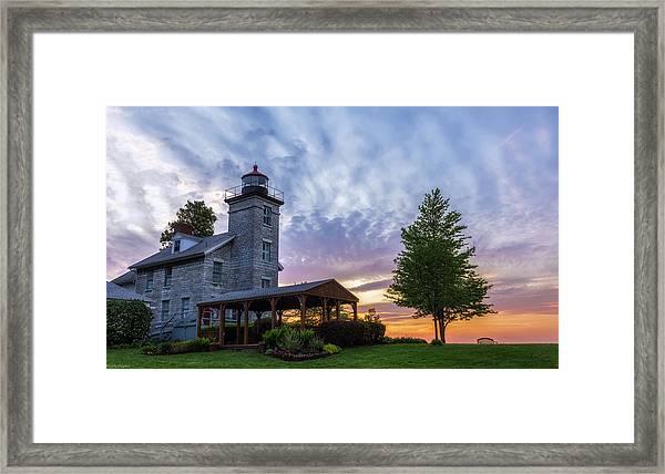 Sodus Bay Lighthouse Framed Print