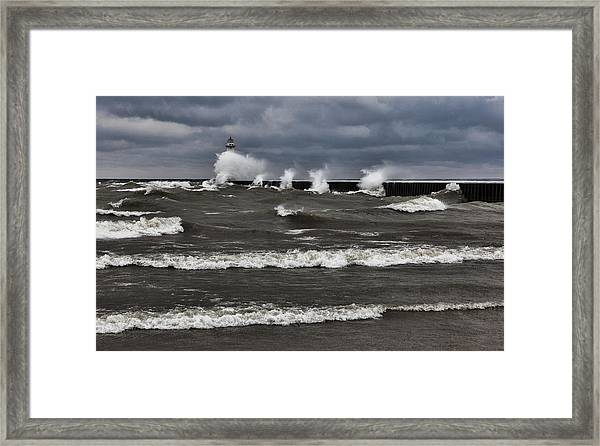 Sodus Waves Framed Print