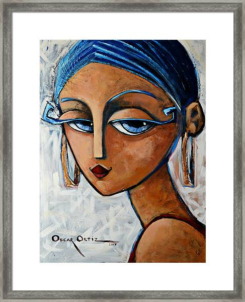 Framed Print featuring the painting Sofia by Oscar Ortiz