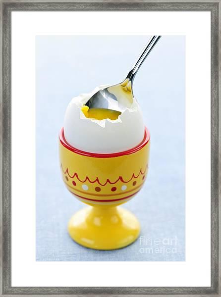 Soft Boiled Egg In Cup Framed Print