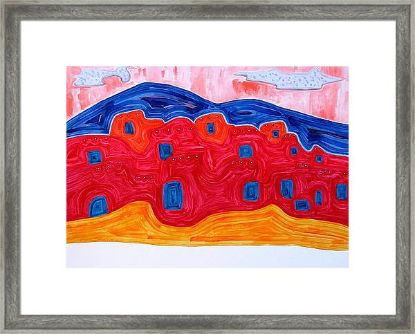 Soft Pueblo Original Painting Framed Print