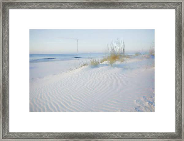 Soft Sandy Beach Framed Print