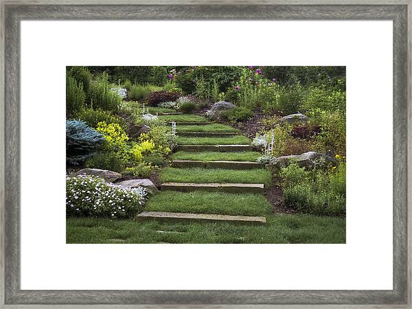 Soft Stairs Framed Print