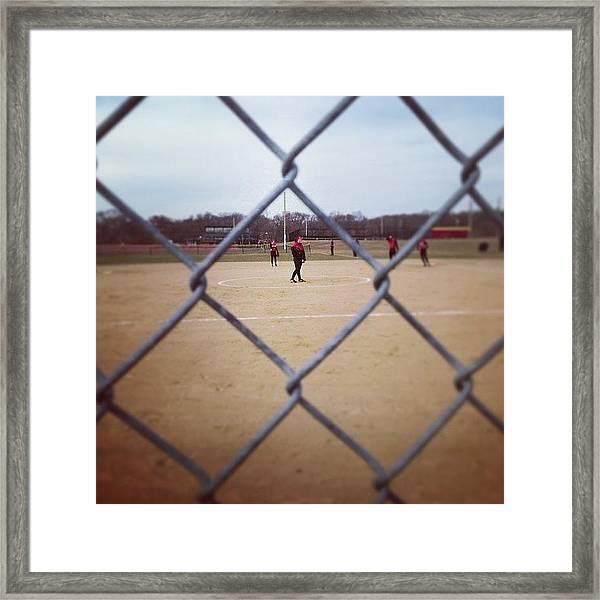 #softball #fence Www.premosch.com Framed Print