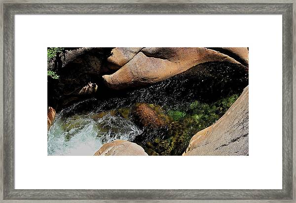 Softly Flowing Stream Framed Print
