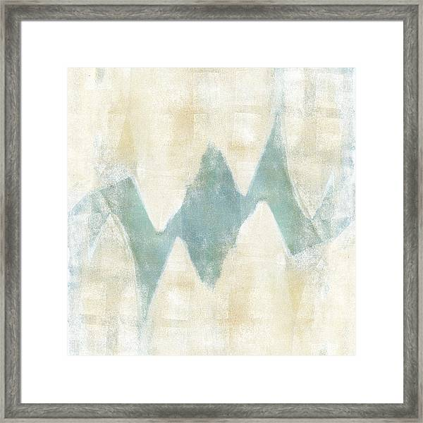 Softly Green 1 Square Framed Print