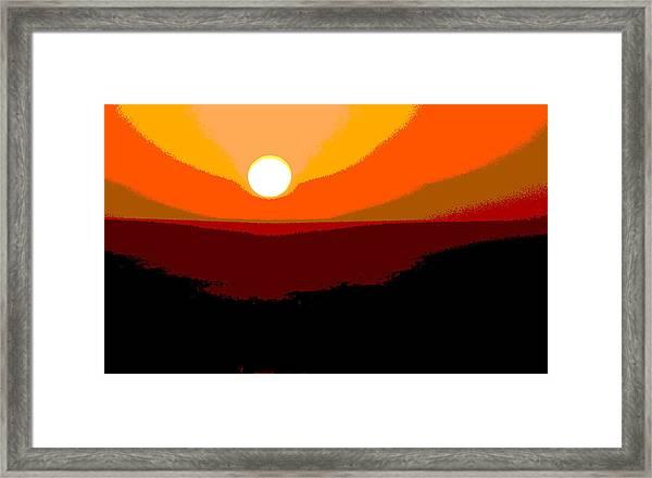 Solar Abstract Framed Print