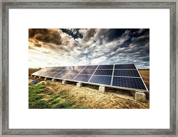 Solar Energy Panels Framed Print