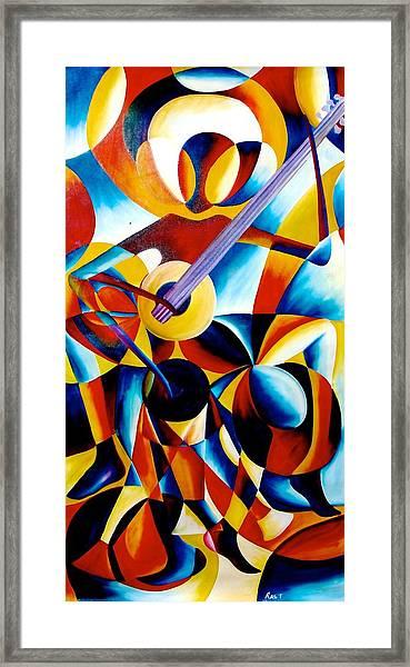 Sole Musician Framed Print