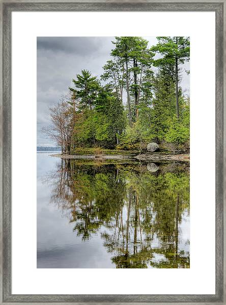 Solitude At Pinheys Point Ontario Framed Print
