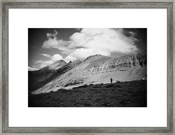 Solitude Below Sperry Glacier Framed Print