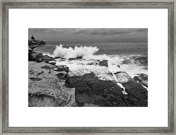 Solitude - Black And White Framed Print