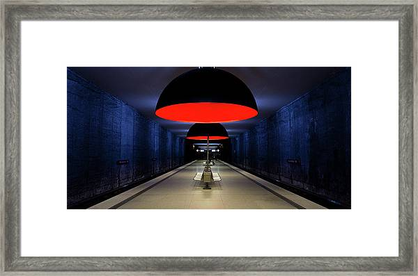 Solitude Bleue Framed Print