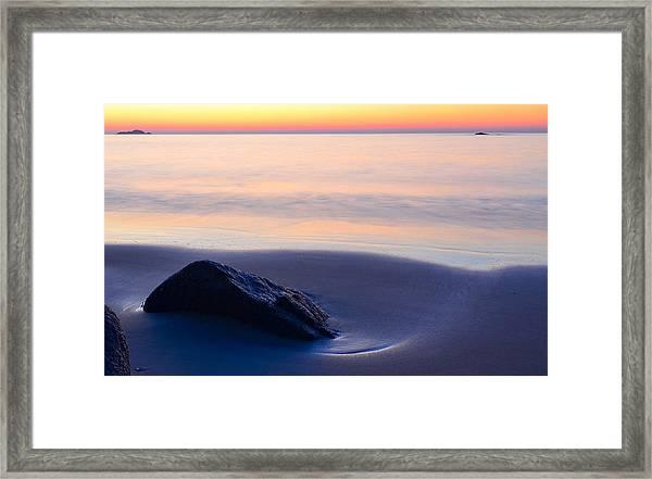 Solitude Singing Beach Framed Print