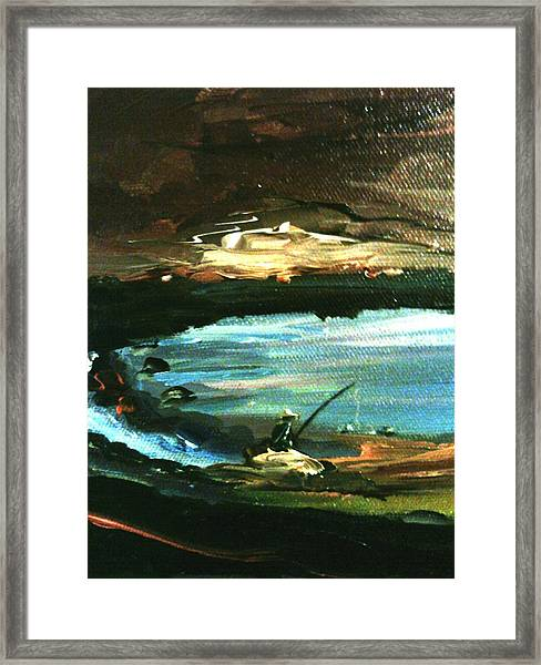 Framed Print featuring the painting Solitude by Ray Khalife