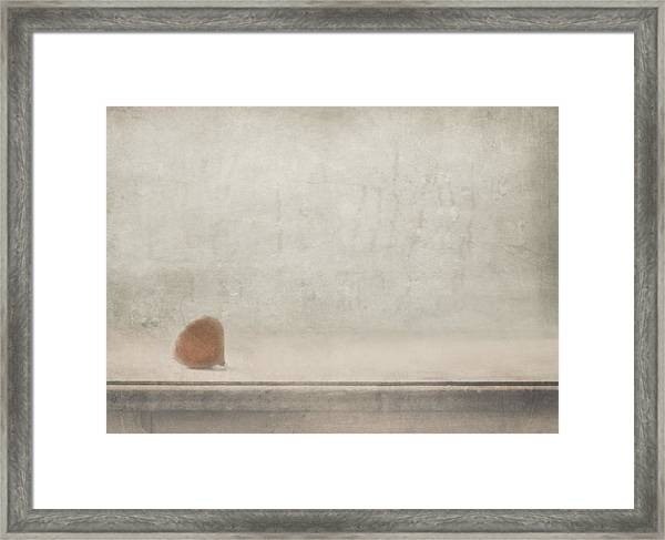 Solitude Stands By The Window Framed Print by Delphine Devos