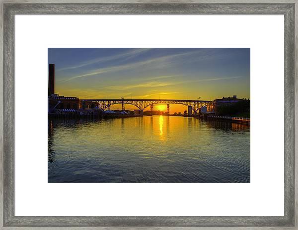 Solstice On The Cuyahoga River Framed Print