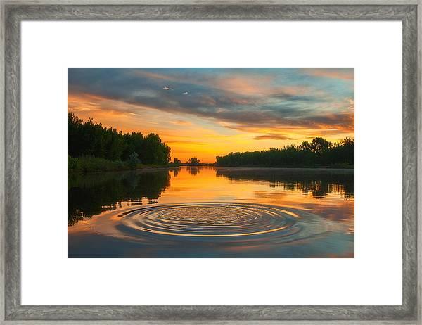 Solstice Ripples Framed Print