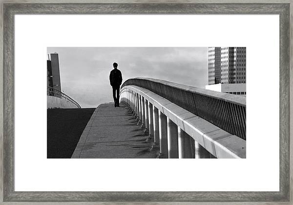 Somber Stroll Framed Print