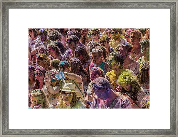 Some Colorful People Framed Print