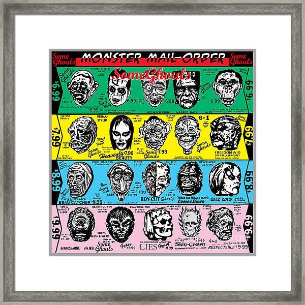 Some Ghouls Framed Print