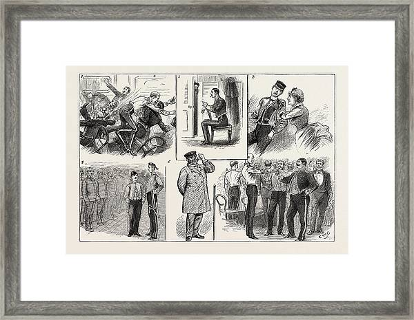 Some Of The Comic Elements In The Grounding Of A Troopship Framed Print