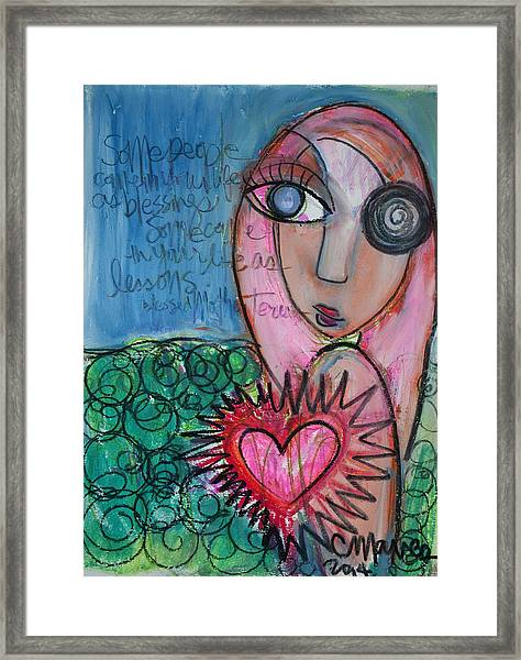 Framed Print featuring the painting Some People by Laurie Maves ART