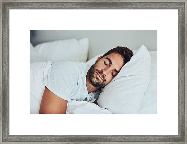 Some Rest After A Hard Day's Work Framed Print by PeopleImages