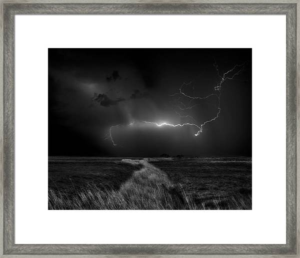 Sometimes The Sky Explodes ... Framed Print