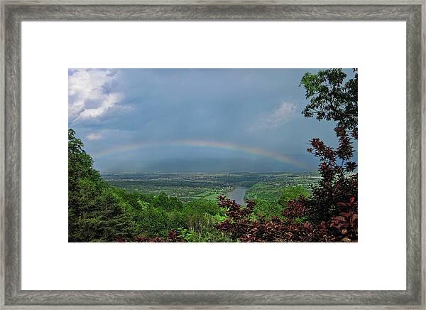 Somewhere Over The Blue Ridge Framed Print
