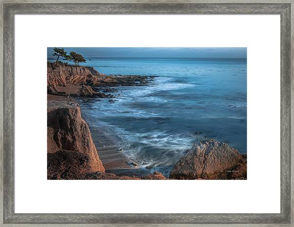 Song At The End Of Day--- Shell Beach Framed Print