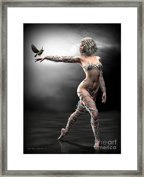 Songbird Framed Print by Sandra Bauser Digital Art