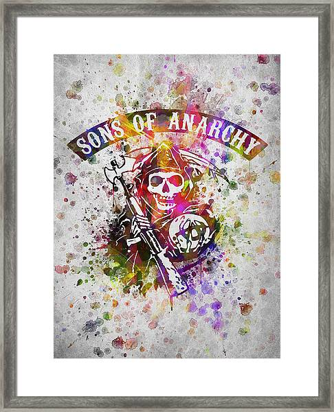 Sons Of Anarchy In Color Framed Print