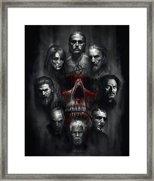Sons Of Anarchy Tribute Framed Print