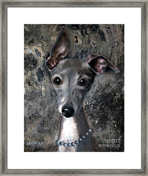 Framed Print featuring the painting Sophie by Wendy Ray