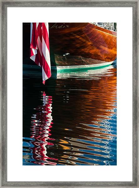 Sophie's Reflection Framed Print