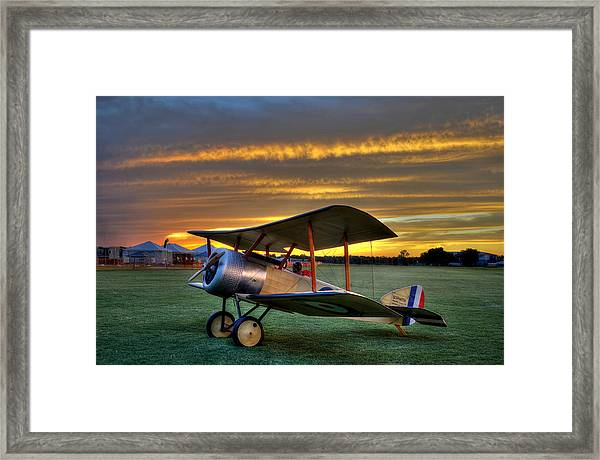 Sopwith Sunset Framed Print