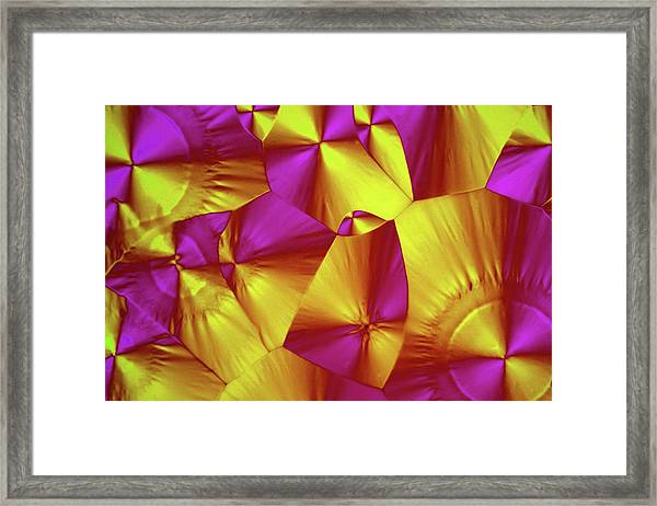 Sorbitol Crystals Framed Print by John Durham