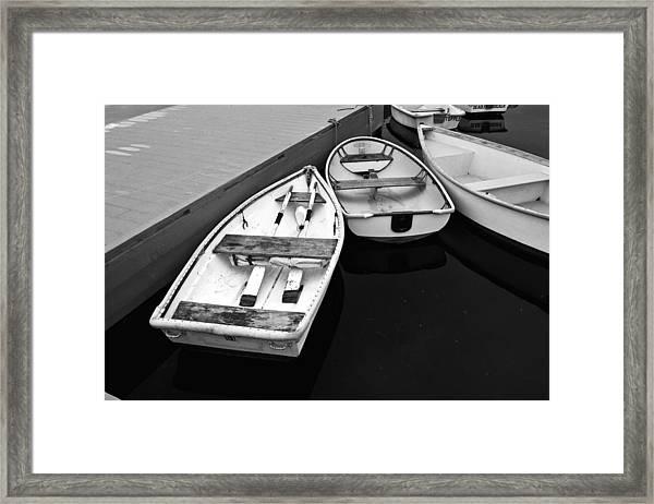Sorrento Harbor Boats 2 Framed Print
