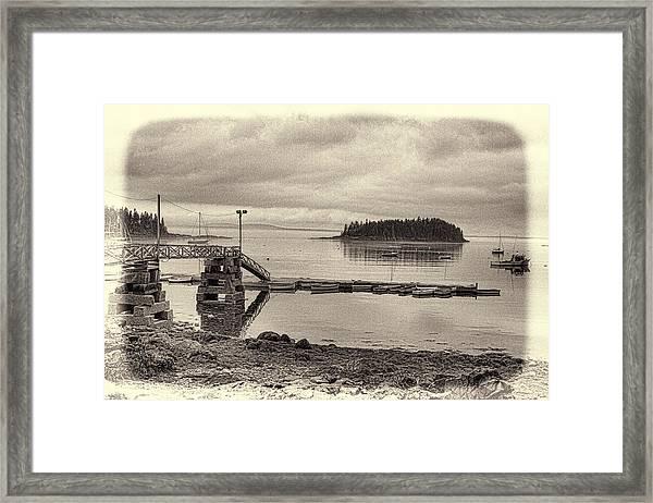 Sorrento Harbor Boats 4 Framed Print