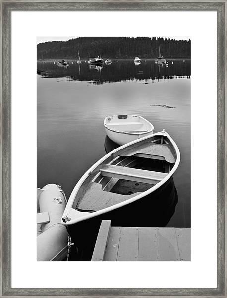 Sorrento Harbor Boats Framed Print