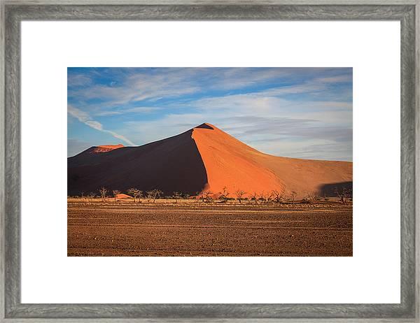 Sossusvlei Park Sand Dune Framed Print
