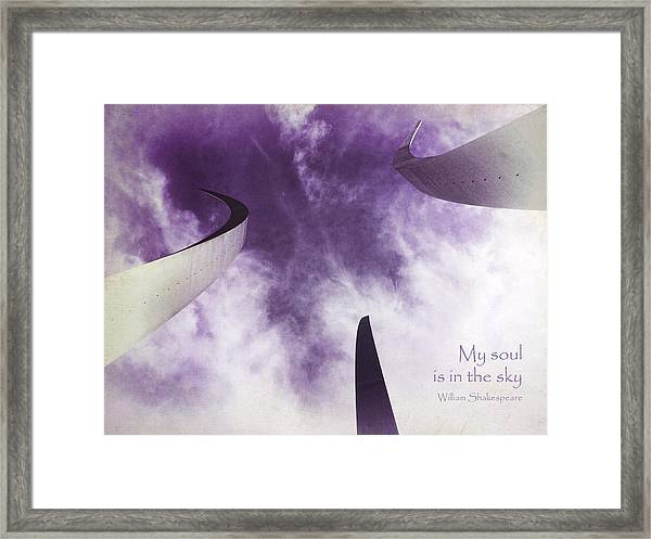 Soul In The Sky - Us Air Force Memorial Framed Print